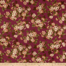 Techno Scuba Knit English Roses Taupe