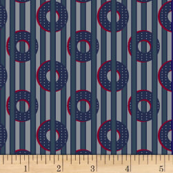 Judie Rothermel Scrappier Dots Peek-a-boo Dots Blue Fabric