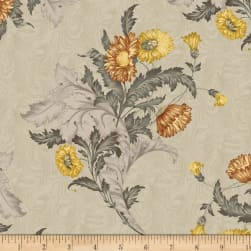 Timeworn Tool Box Tape Measure Wallpaper Bouquet Floral