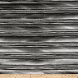 Kim Eichler-Messmer Imbue Batiks Narrow Stripe Black/White Fabric