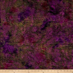 Kim Eichler-Messmer Imbue Batiks Textured Squiggle Purple Fabric