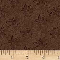 Pam Buda Primitive Threads Tossed Branches Brown Fabric