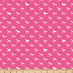 Derby Horses Pink In Knit