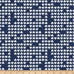Riley Blake Jersey Knit Triangles Navy Fabric