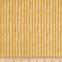 QT Fabrics Hungry Animal Alpha Stripe Ochre Fabric