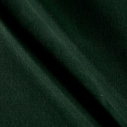 Heavyweight Waxed Twill Hunter Green Fabric