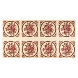 Andover Windermere Bouquet Rose Fabric