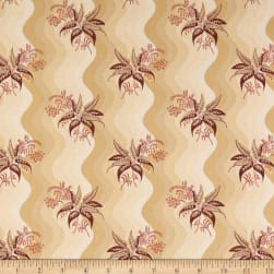 Andover Windermere Buds Burgundy Fabric
