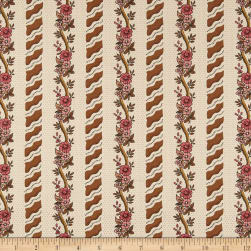 Andover Windermere Curling Floral Khaki Fabric