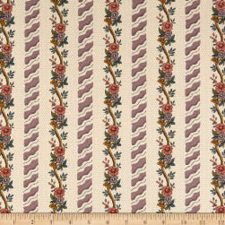 Andover Windermere Curling Floral Mauve Fabric