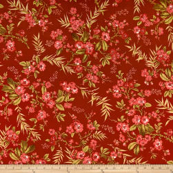 Andover Little Sweethearts Bouquet Scarlet Fabric