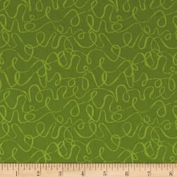 Andover Scribbles Olive Fabric
