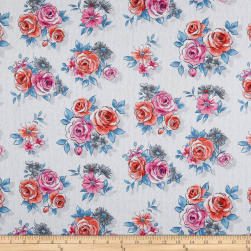 Andover Top Drawer Large Floral Lily Fabric