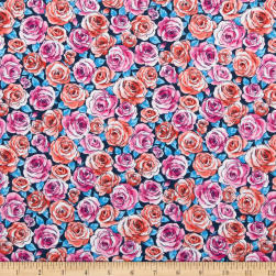 Andover Top Drawer Roses Blue Fabric