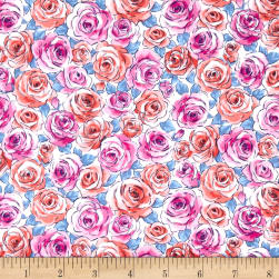 Andover Top Drawer Roses Baby Blue