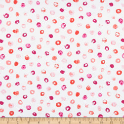Andover Top Drawer Multi Dot Coral Fabric