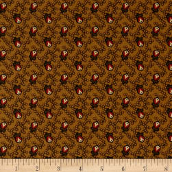 Andover Cambridge Buds Brown Fabric