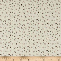Andover Nicholson Street Sprigs Black/Red Fabric