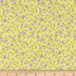 Maywood Studio Emma's Garden Calico Sunny Yellow Fabric