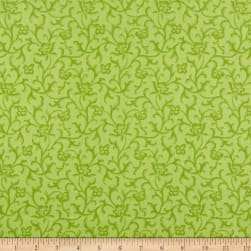 Maywood Studio Emma's Garden Tonal Scroll Green Fabric