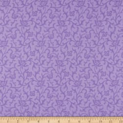 Maywood Studio Emma's Garden Tonal Scroll Purple Fabric