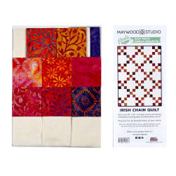 Maywood Studio Mango Tango Batiks Irish Chain Quilt