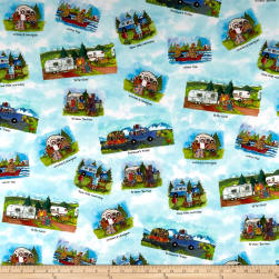 Maywood Studio Quilter's Road Trip Scenic Multi Fabric