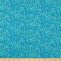 Maywood Studio Quilter's Road Trip Leaves Teal Fabric