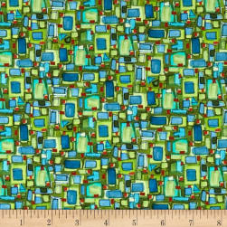 Maywood Studio Quilter's Road Trip Geometric Blue Green