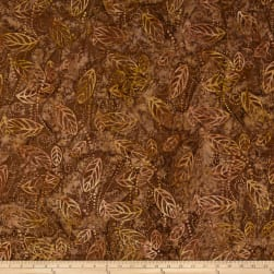 Wilmington Batiks Floating Leaves Brown Fabric