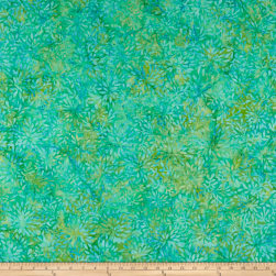 Wilmington Batiks Packed Petals Aqua Fabric