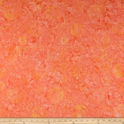 Wilmington Batiks Flower Burst Coral