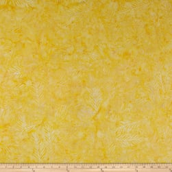 Wilmington Batiks Delicate Fronds Yellow Fabric