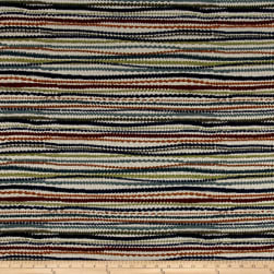 Busby Stripe Chenille Sunset Fabric
