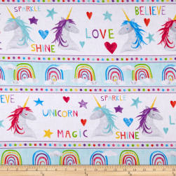 Wilmington Sparkle Magic Shine Repeating Stripe Multi