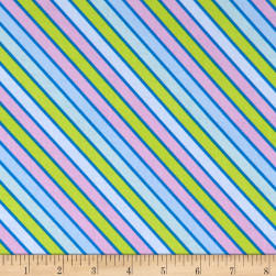 Wilmington Sparkle Magic Shine Diagonal Stripe Blue/Purple/Lime