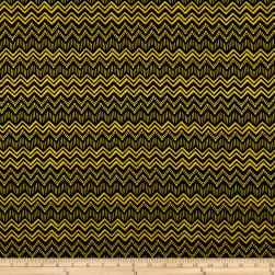 Wilmington Sunny Days Zig Zag Stripe Black/Yellow