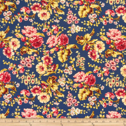 Wilmington Barcolage Large Floral Navy