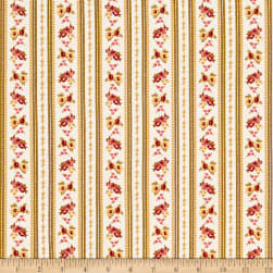 Wilmington Barcolage Ticking Stripe Ivory