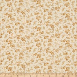 Wilmington Barcolage Trailing Flowers Ivory Fabric
