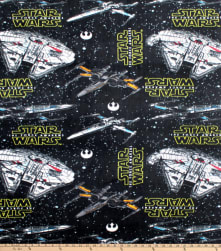 Star Wars Ships Fleece Multi Fabric