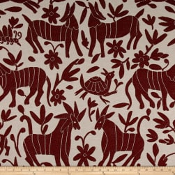 Artistry Fiesta Otomi Yarn-Dyed Jacquard Crabapple Fabric