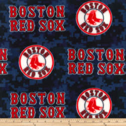MLB Fleece Boston Red Sox Blue/Red Fabric