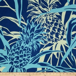 Trans-Pacific Textiles Pineapple Canvas Navy Fabric
