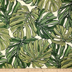 Trans-Pacific Textiles Monstera Canvas Green/Cream Fabric