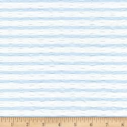 Kaufman Cote D'Azur Seersucker Stripe Horizontal Light Blue