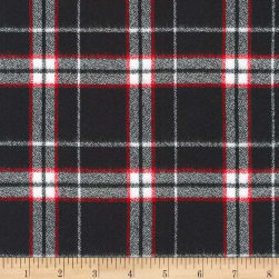 Kaufman Mammoth Flannel Plaid Black