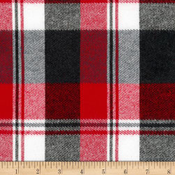 Kaufman Durango Flannel Plaid Red Fabric
