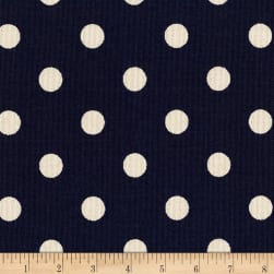 Kaufman Sevenberry Canvas Prints Dot Heavy Weight Navy