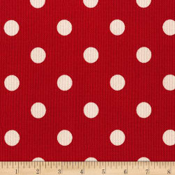 Kaufman Sevenberry Canvas Prints Dot Heavy Weight Red